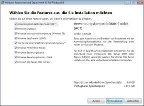 Windows Assessment and Deployment Kit für Windows 8.1