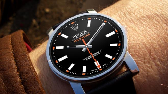Smartwatch mit Rolex-Face©Yoran van Arragon