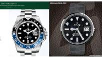 Dreiste Ziffernblatt-Plagiate auf Smartwatches©COMPUTER BILD, Rolex, go2android Developer Team