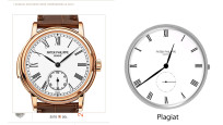 Dreiste Ziffernblatt-Plagiate auf Smartwatches©Patek Philippe, COMPUTER BILD, Think Studios