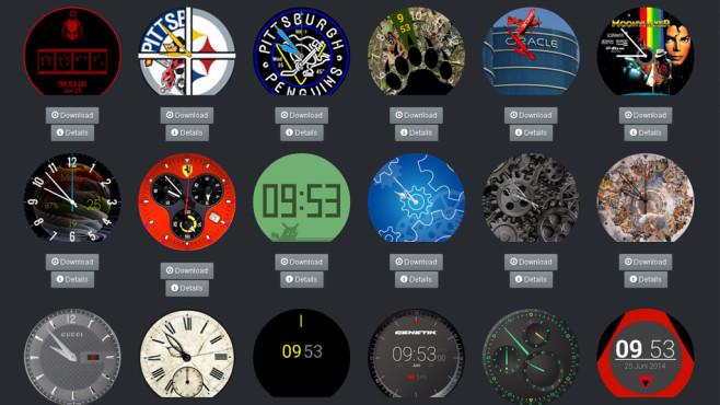 Dreiste Zifferblatt-Plagiate für Smartwatches