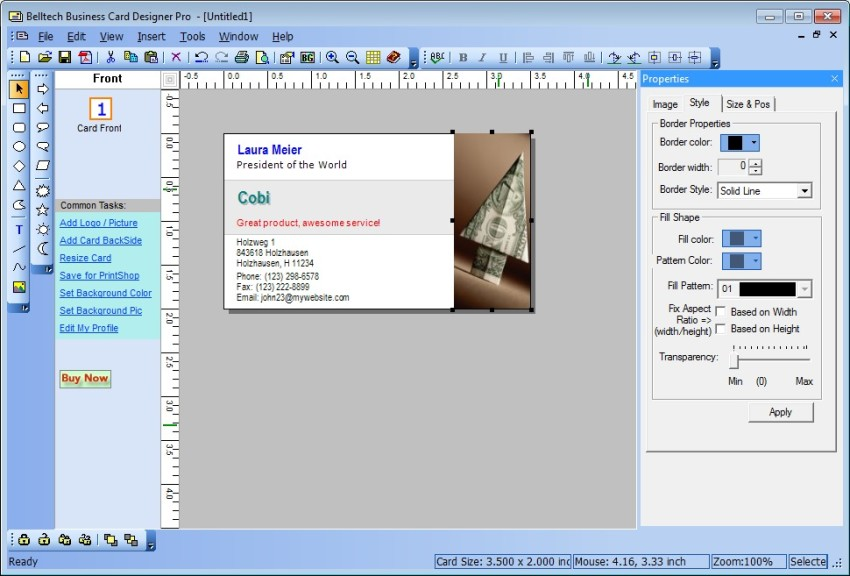 Fancy Business Card Designer Pro Model - Business Card Ideas ...