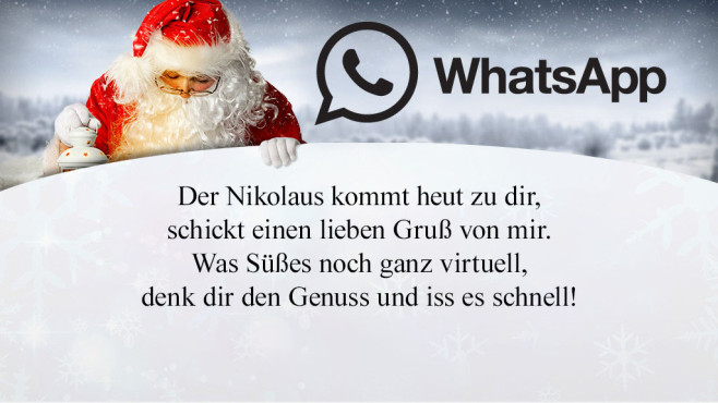 whatsapp spr che zum nikolaus computer bild. Black Bedroom Furniture Sets. Home Design Ideas