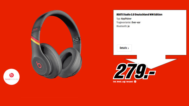Beats By Dre Studio 2.0 Deutschland WM Edition © Media Markt