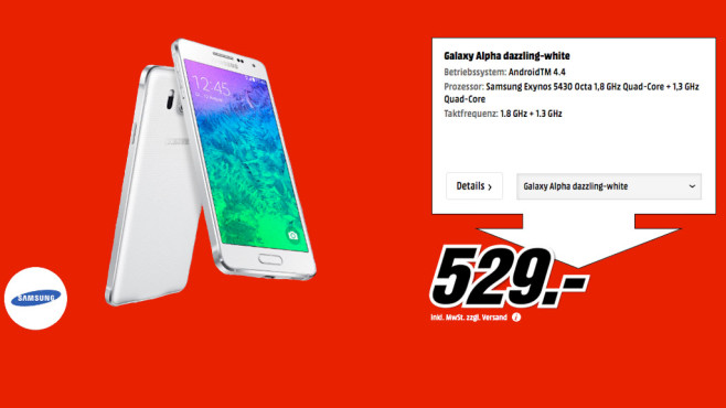Samsung Galaxy Alpha © Media Markt