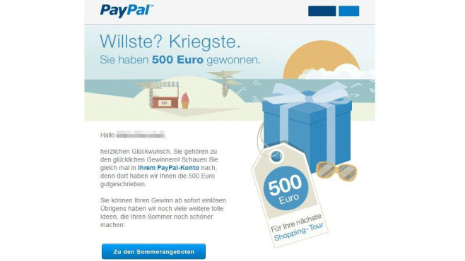 Paypal, Gewinnspiel©Paypal