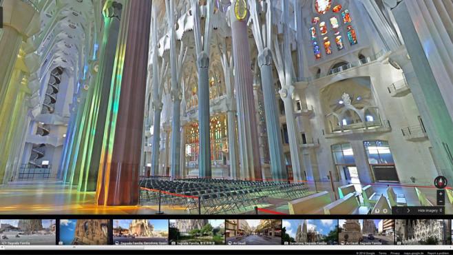 Google Street View: Sagrada Família, Barcelona©Google, COMPUTER BILD