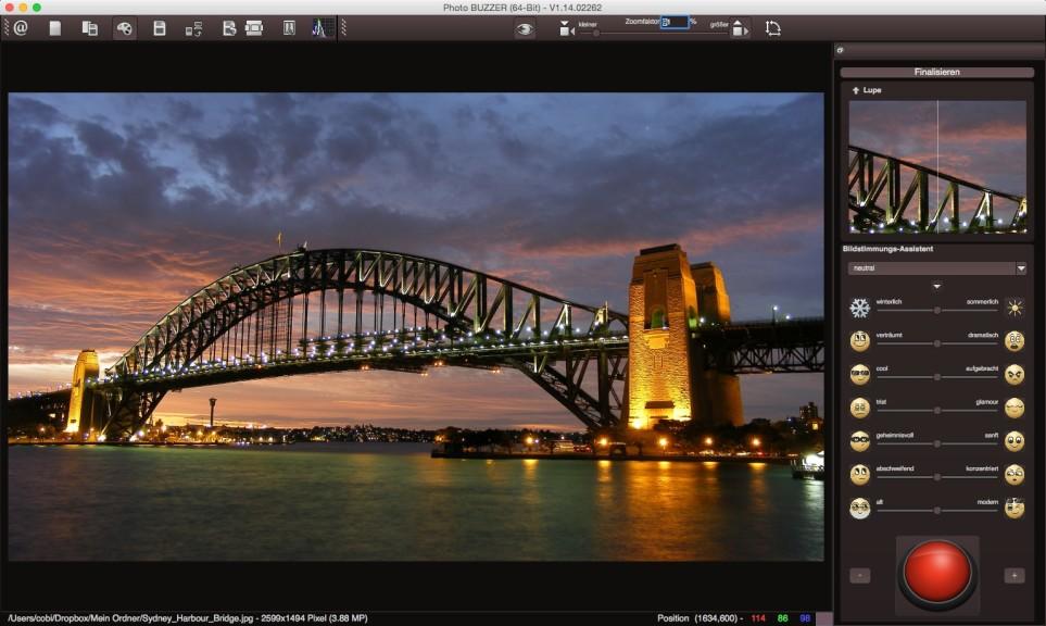 Screenshot 1 - Photo BuZZer – Kostenlose Vollversion (Mac)
