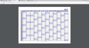 Jahreskalender & Monatskalender zum Ausdrucken