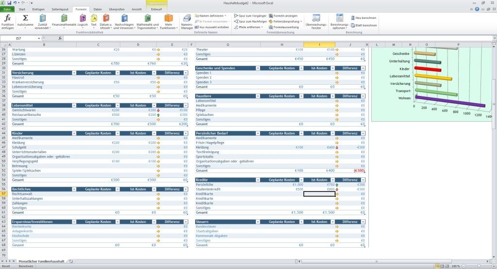 Haushaltsbudget Excel Vorlage Download Computer Bild