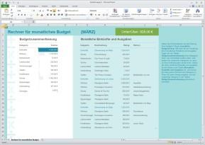 Rechner für Monatsbudget (Excel-Vorlage)