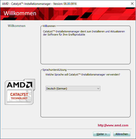 Screenshot 1 - AMD Catalyst Software Suite (Windows Vista, 64 Bit)