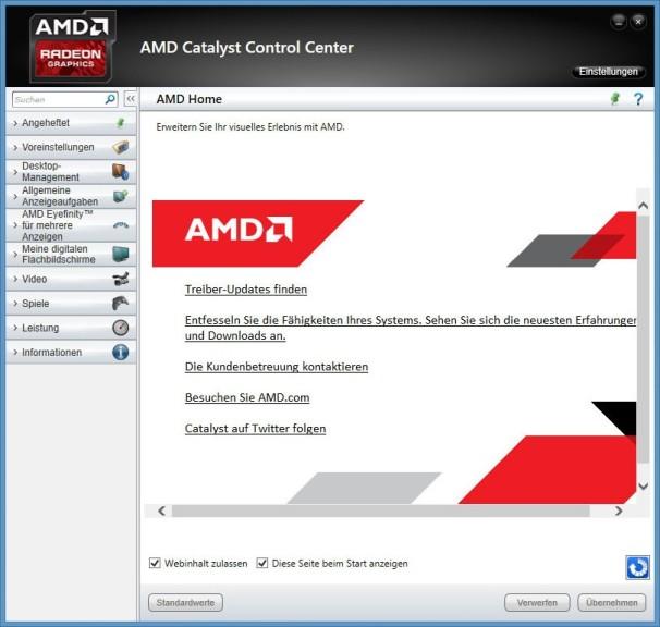 Screenshot 1 - AMD-Notebook-Treiber (Mobile): Radeon-Software Crimson ReLive Edition (Windows 8.1, 32 Bit)