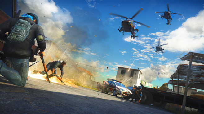 Actionspiel Just Cause 3: Helikopter ©Square Enix