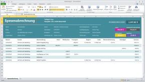 Reisespesenabrechnung (Excel-Vorlage)