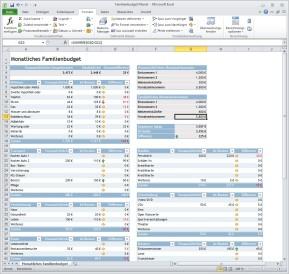 Monatliches Familienbudget (Excel-Vorlage)