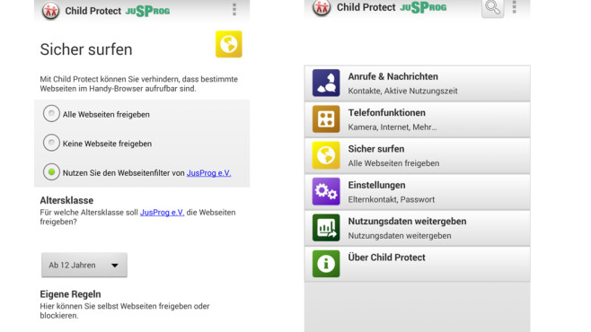 Vodafone Child Protect (nur Android) ©Vodafone