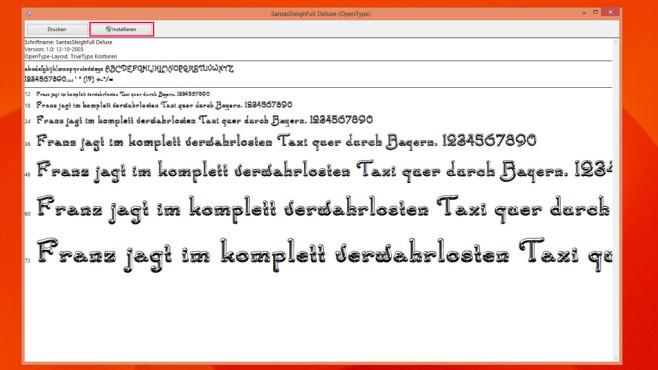 Kostenlose Fonts installieren ©COMPUTER BILD