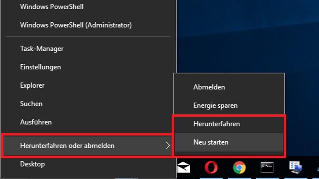desktop drehen windows 10