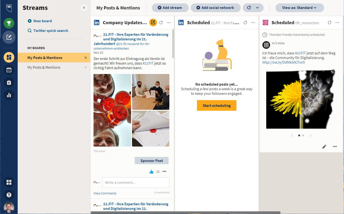 Screenshot 1 - Hootsuite