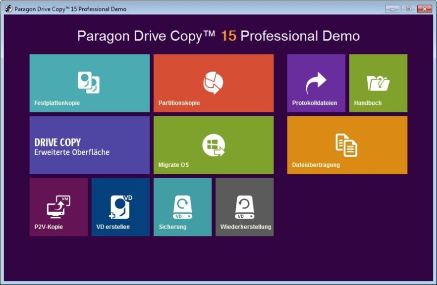 Screenshot 1 - Paragon Drive Copy