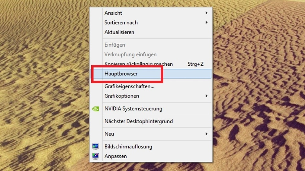 Windows 7/8/10: Programme per Kontextmenü starten
