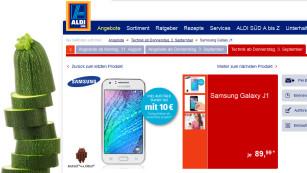 Samsung Galaxy J1 bei Aldi©COMPUTER BILD