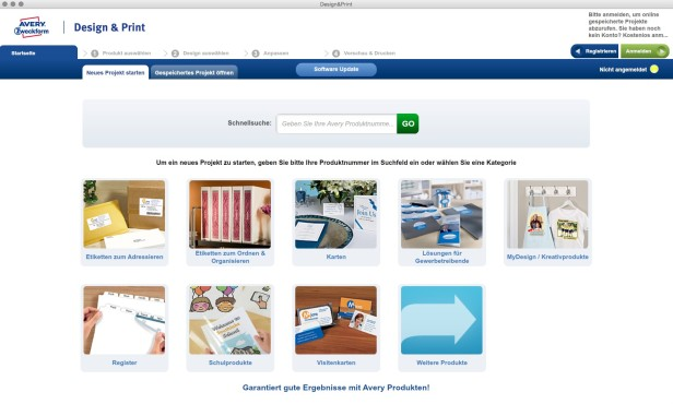 Screenshot 1 - Avery Zweckform Design & Print (Mac)