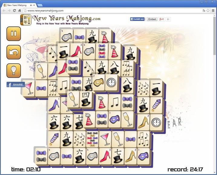 Screenshot 1 - Neujahrs-Mahjong