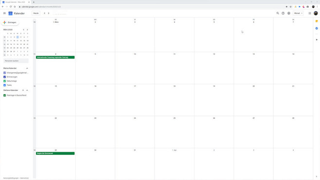 Google Kalender (Google Calender) ©COMPUTER BILD