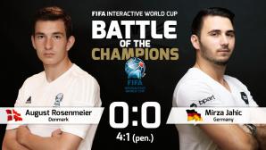 Duell der Champions: August Rosenmeier gegen Mirza Jahic©FIFA