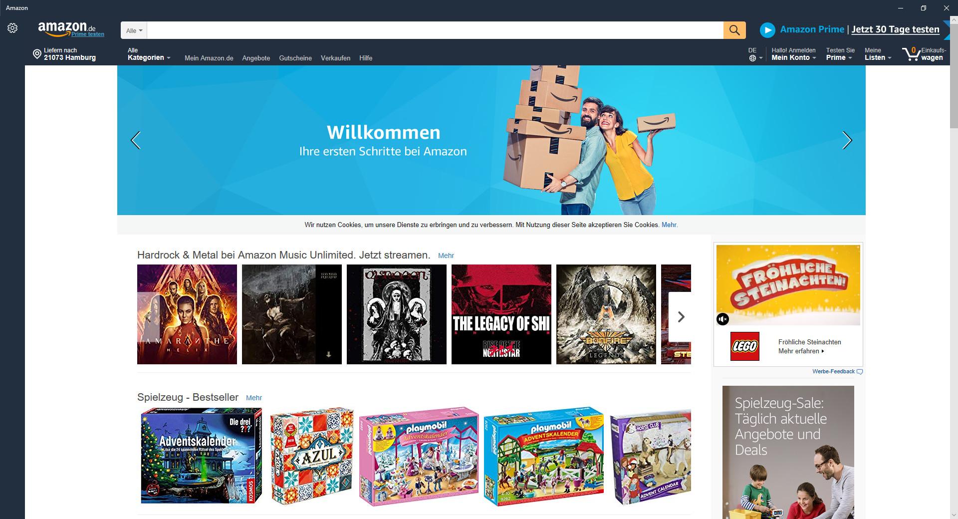 Screenshot 1 - Amazon (Windows-10-App)