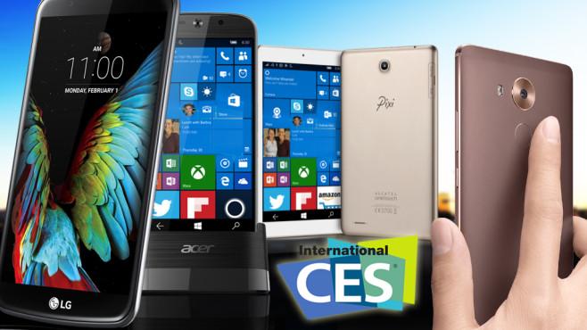 Handys CES 2016©LG, Alcatel, Acer, Huawei