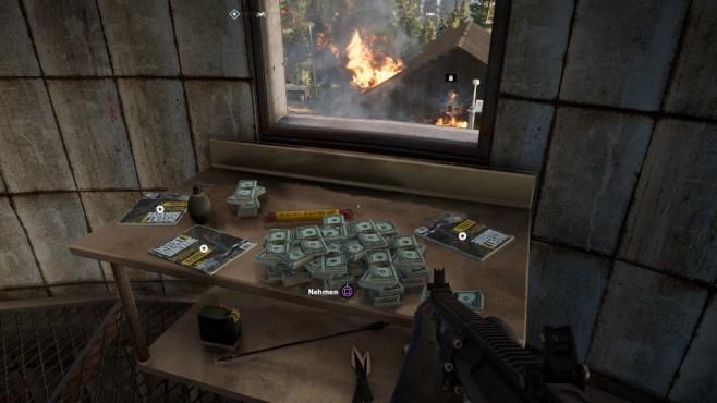 Far Cry 5 im Test: Hipster und Hetzer In den Prepper-Verstecken finden Sie richtig Kohle und Vorteilspunkte!©Ubisoft