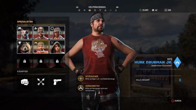Far Cry 5 im Test: Hipster und Hetzer Neu und sinnvoll: Sie haben jetzt Verbünbete mit Spezialfähigkeiten.©Ubisoft
