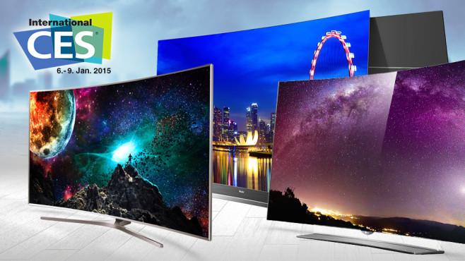 Die Fernseher-Trends der CES 2015©Haier, Samsung, LG
