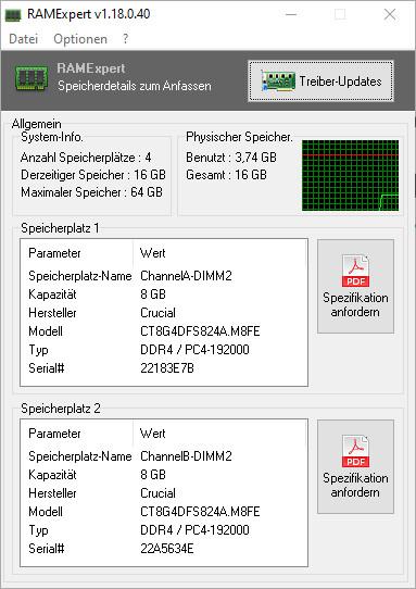 Screenshot 1 - RAMExpert