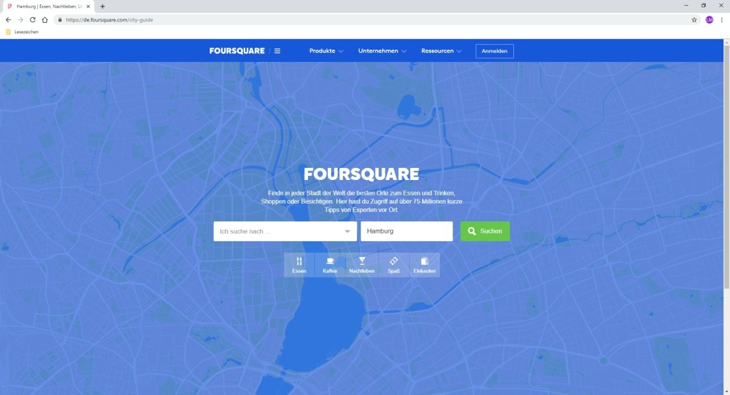 Screenshot 1 - Foursquare