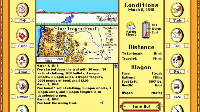 The Oregon Trail Deluxe ©MECC
