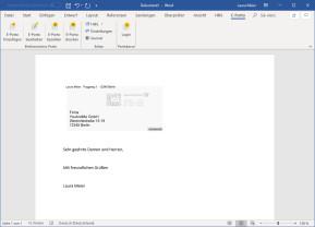 E-Porto-Add-In für Microsoft Word