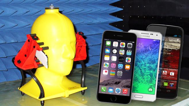 Empfangstest Handy©COMPUTER BILD/Apple/Samsung/Motorola