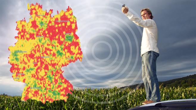 handynetz karte deutschland Netzabdeckung: Karte für GSM, UMTS, LTE   COMPUTER BILD