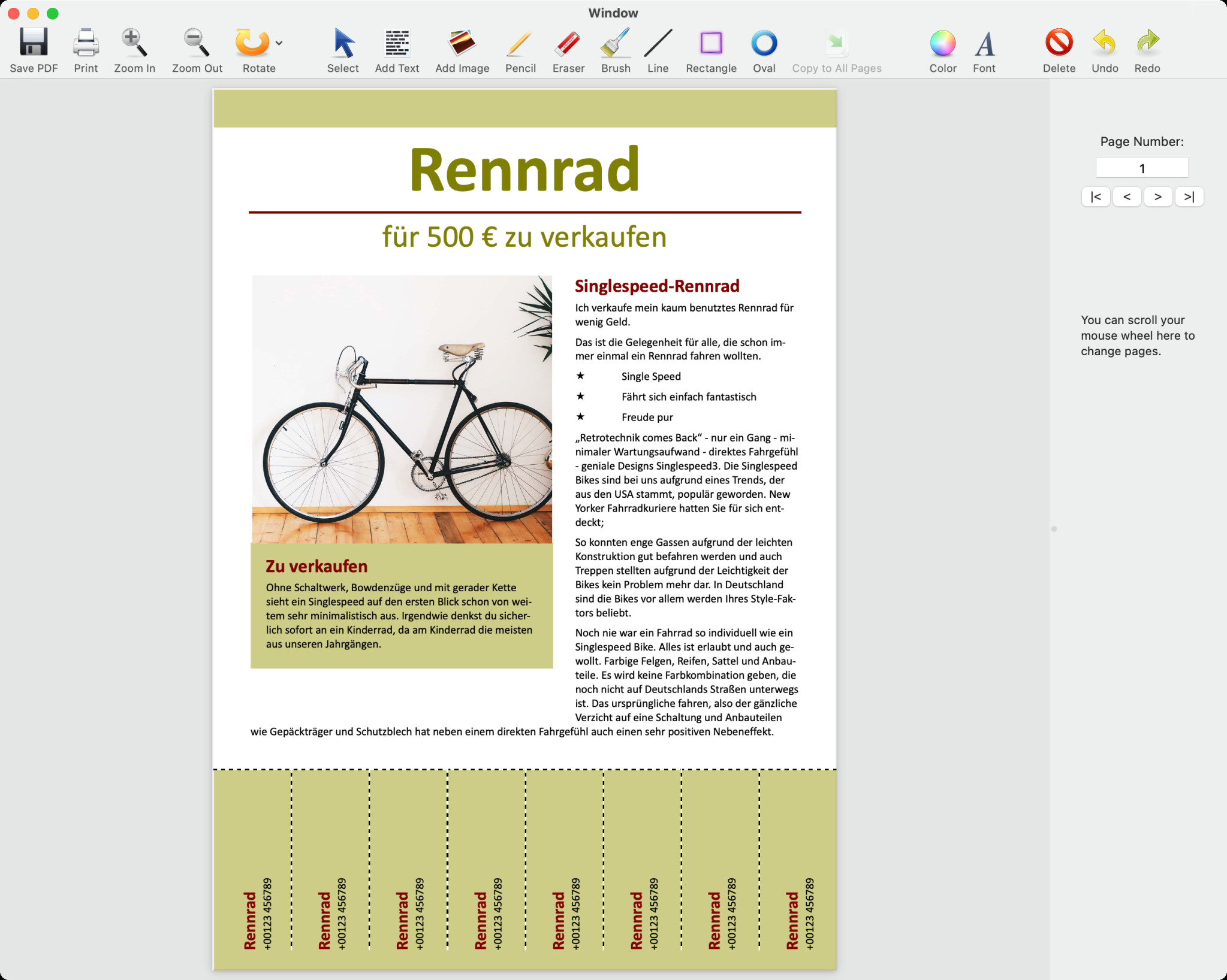 Screenshot 1 - PDF Editor (Mac)
