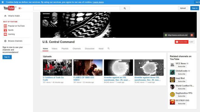 YouTube: Centcom-Angebot©Central command/yooutube/dpa