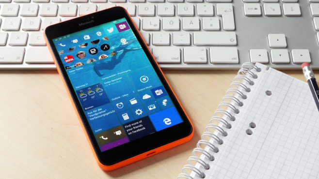 Windows 10 mobile auf Lumia 640 XL © COMPUTER BILD