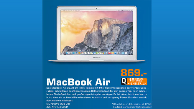 "Apple MacBook Air 13"" 2014 © Saturn"