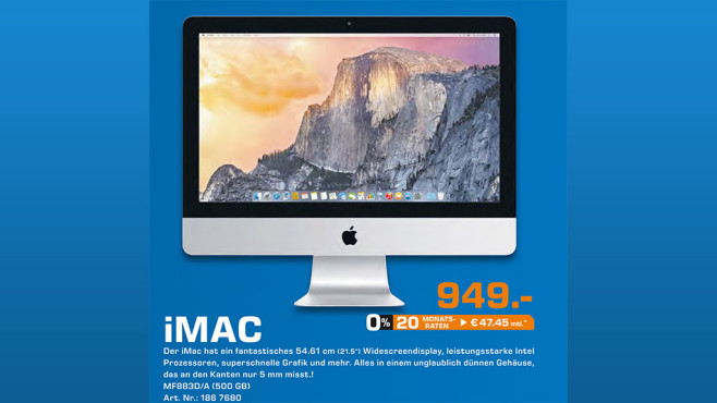 Apple iMac 21.5'' © Saturn