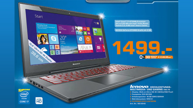 Lenovo IdeaPad Y50-70 © Saturn