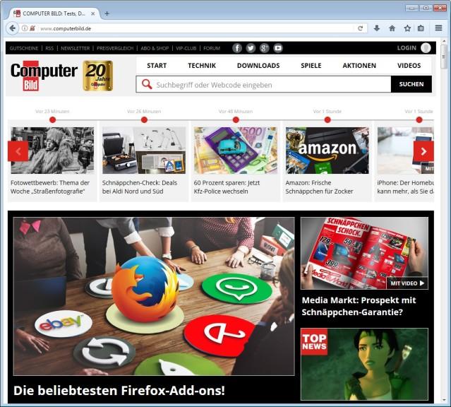 Screenshot 1 - Firefox Light