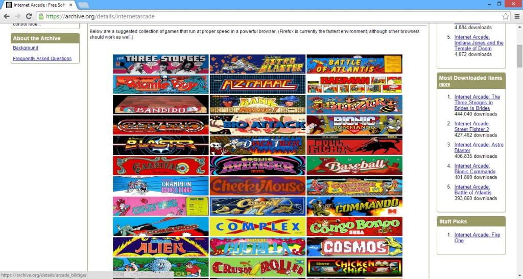 Screenshot 1 - The Internet Arcade